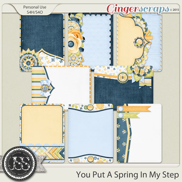 You Put A Spring In My Step Journal and Pocket Scrapbooking Cards