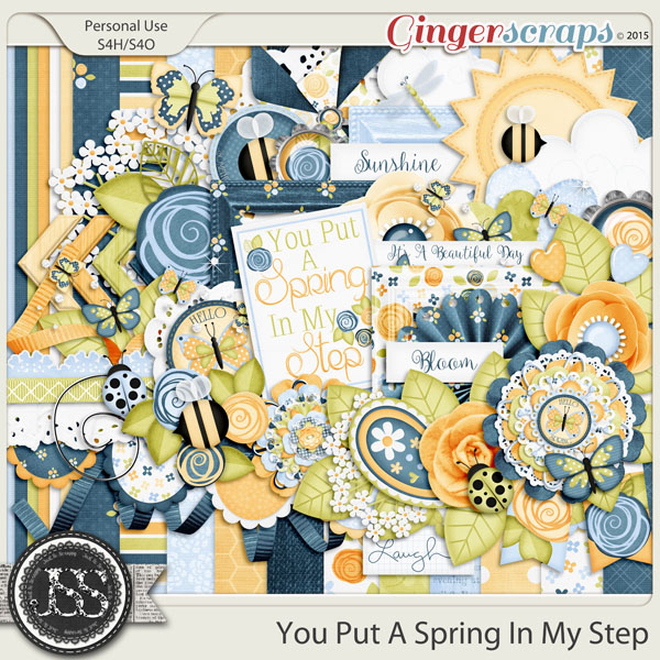 You Put A Spring In My Step Digital Scrapbook Kit