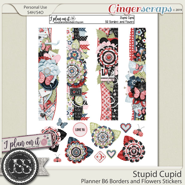 Stupid Cupid Planner B6 Borders and Flowers