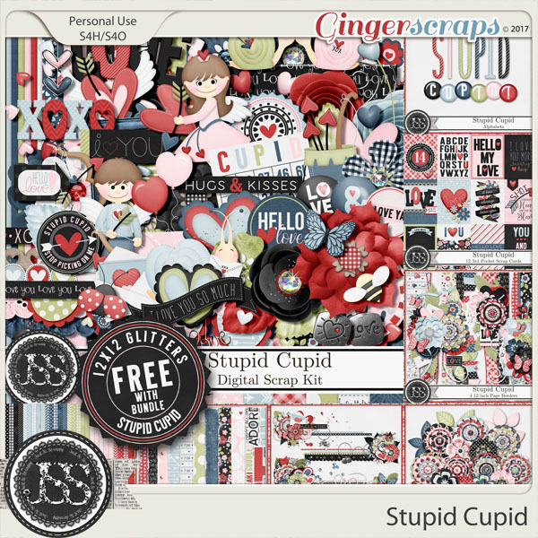 Stupid Cupid Digital Scrapbook Bundle