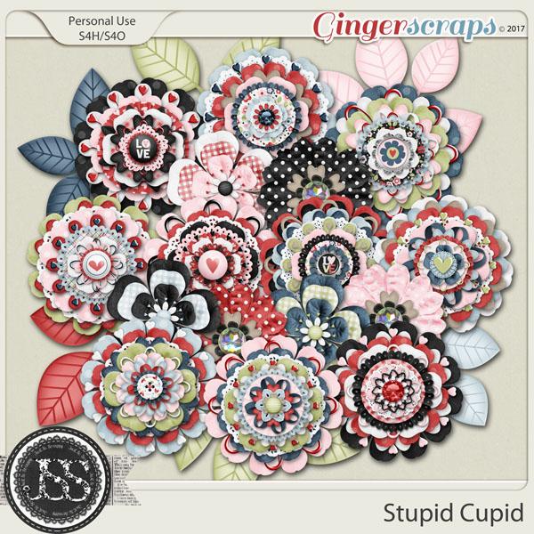 Stupid Cupid Layered Flowers