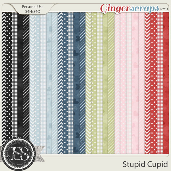 Stupid Cupid Pattern Papers