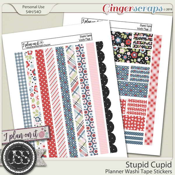 Stupid Cupid Planner Washi Tape Stickers