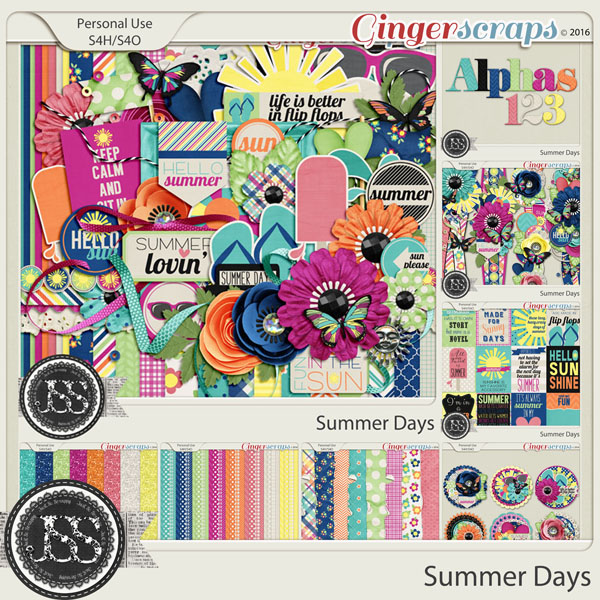 Summer Days Digital Scrapbooking Bundle