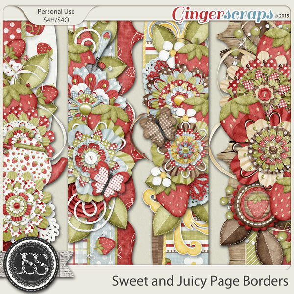 Sweet And Juicy Page Borders