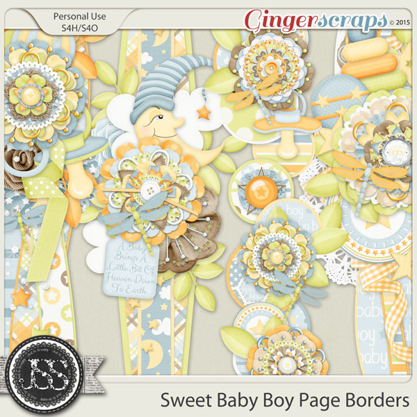 Sweet Baby Boy Page Borders