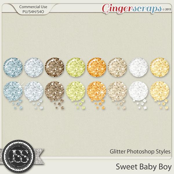 Sweet Baby Boy Glitter Photoshop Styles