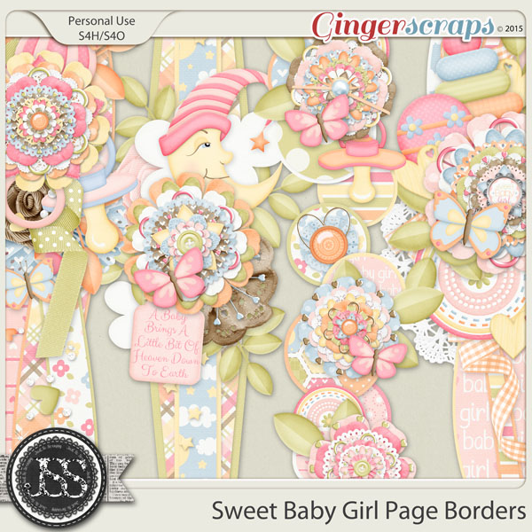 Sweet Baby Girl Page Borders
