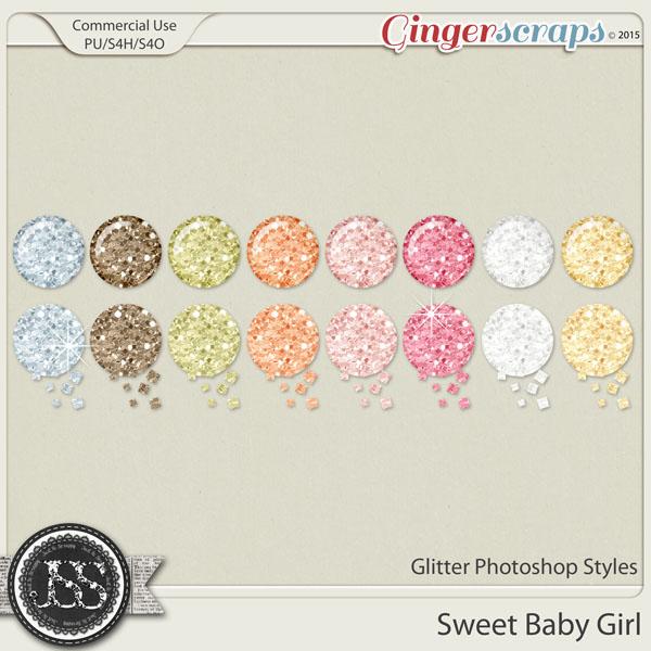 Sweet Baby Girl Glitter Photoshop Styles