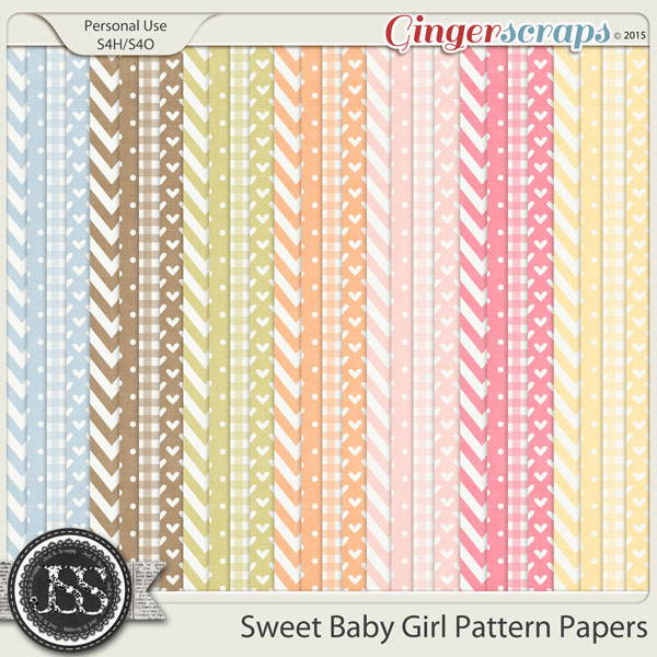 Sweet Baby Girl Pattern Papers