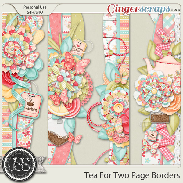 Tea For Two Page Borders