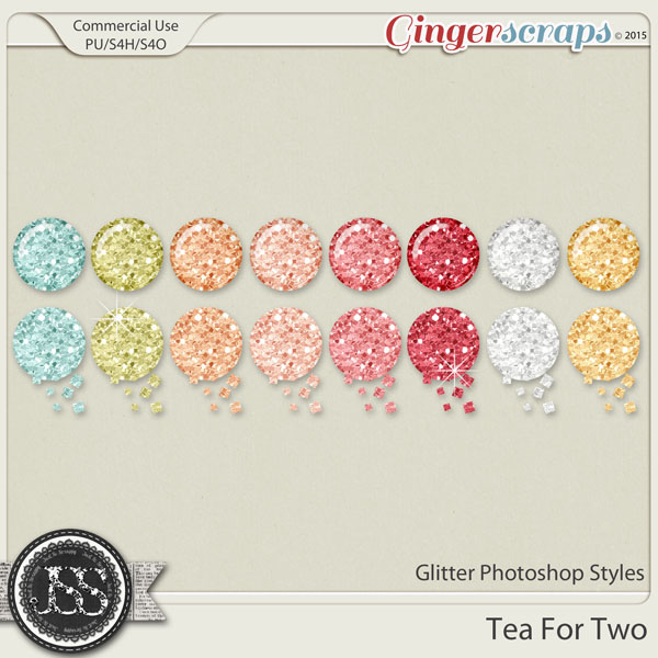 Tea For Two Glitter Photoshop Styles