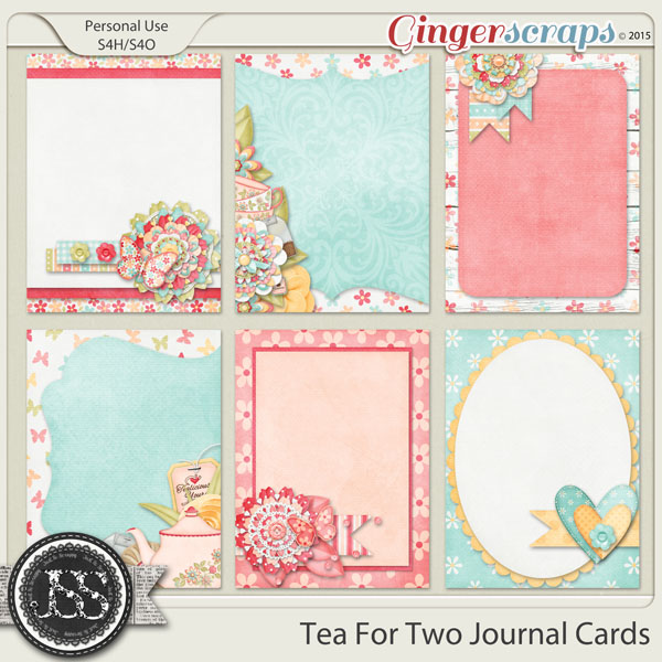 Tea For Two Journal Cards