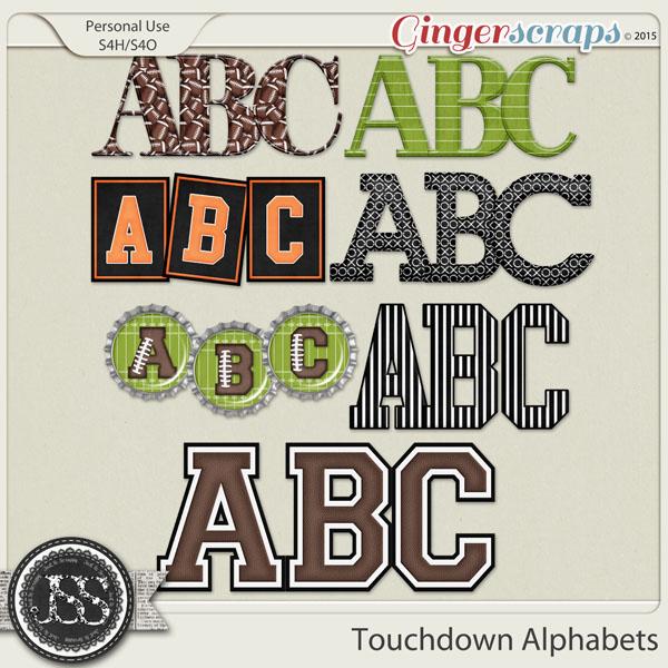 Touchdown Alphabets
