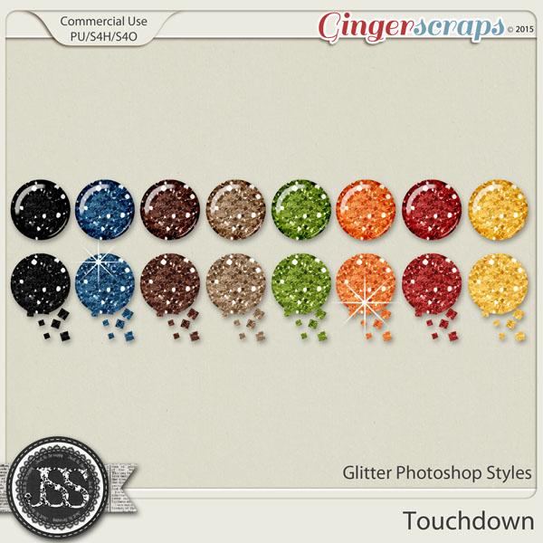 Touchdown CU Glitter Photoshop Styles