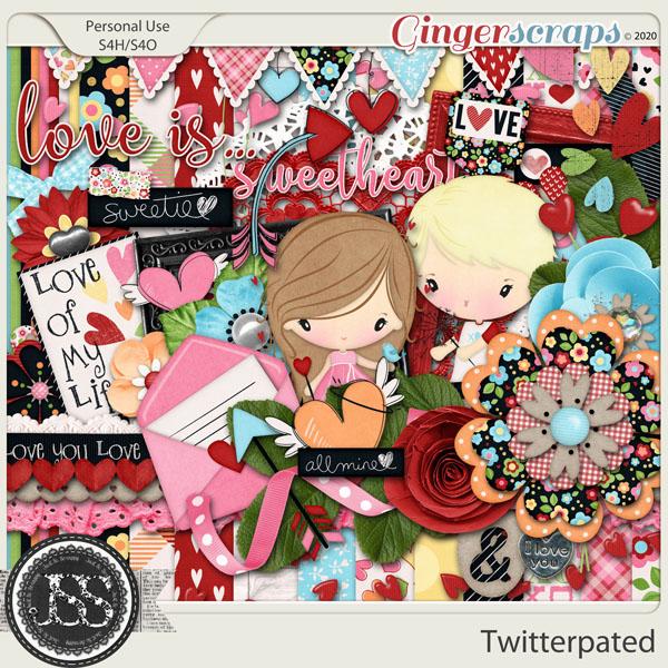 Twitterpated Digital Scrapbook Kit