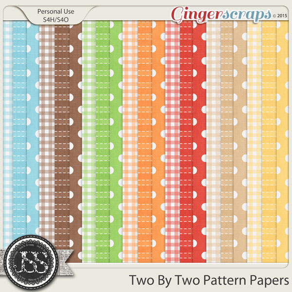 Two By Two Pattern Papers