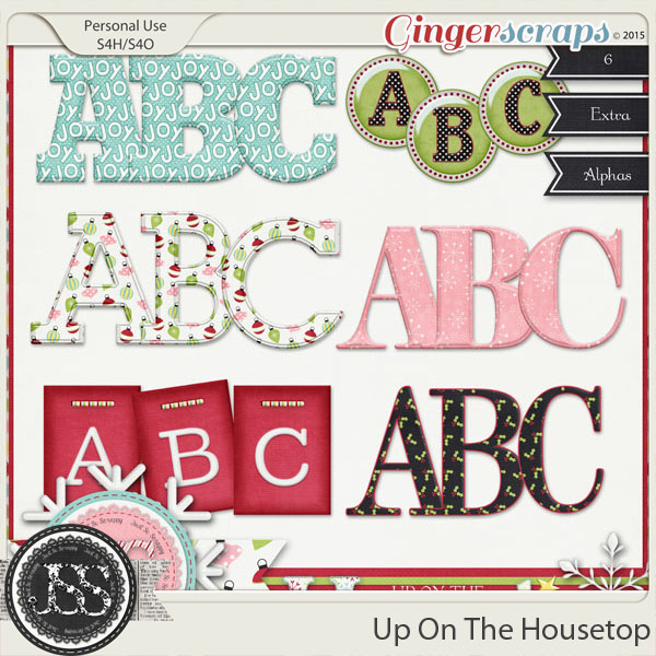 Up On The Housetop Alphabets