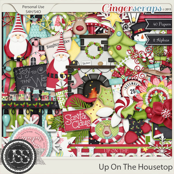 Up On The Housetop Digital Scrapbooking Kit