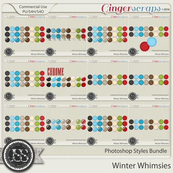 Winter Whimsies CU Photoshop Styles Bundle