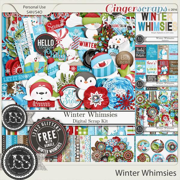 Winter Whimsies Digital Scrapbook Bundle