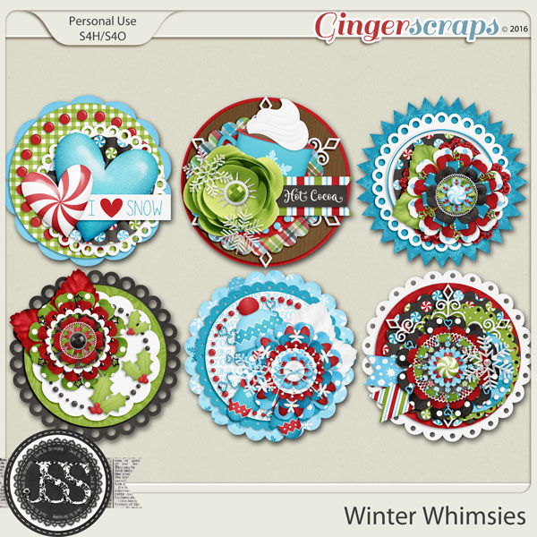 Winter Whimsies Cluster Seals