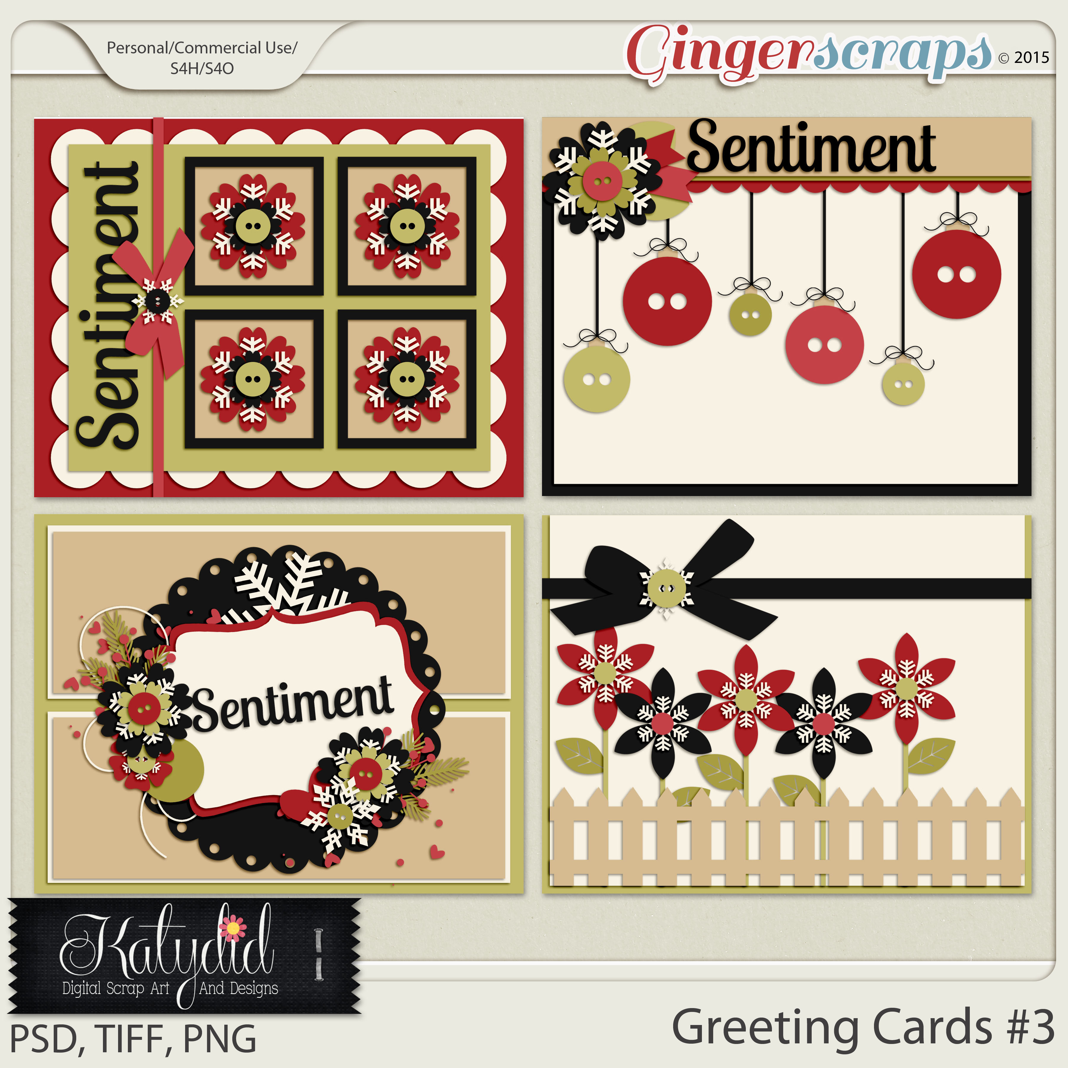 Greeting Cards Layered Templates Pack No 3