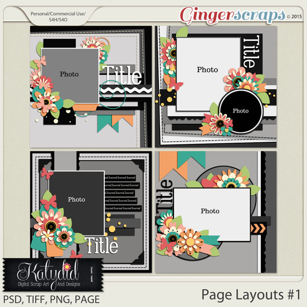Layout Page Layered Templates Pack No 1