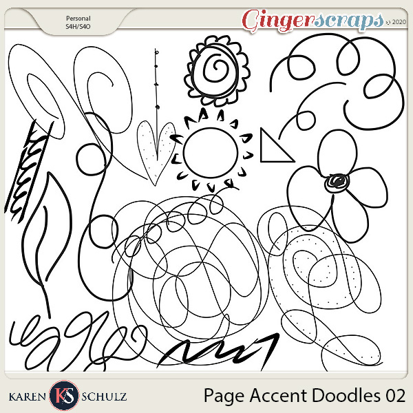 Page Accent Doodles 02 by