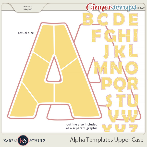Alpha Templates Upper Case by Karen Schulz