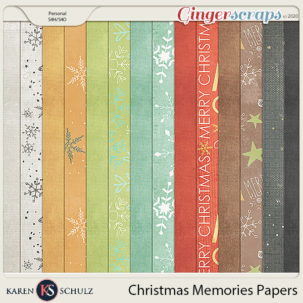Christmas Memories Paper Pack 2 by Karen Schulz