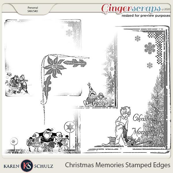 Christmas Memories Stamped Edges by Karen Schulz