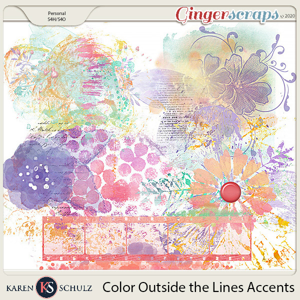 Color Outside the Lines Accents by Karen Schulz