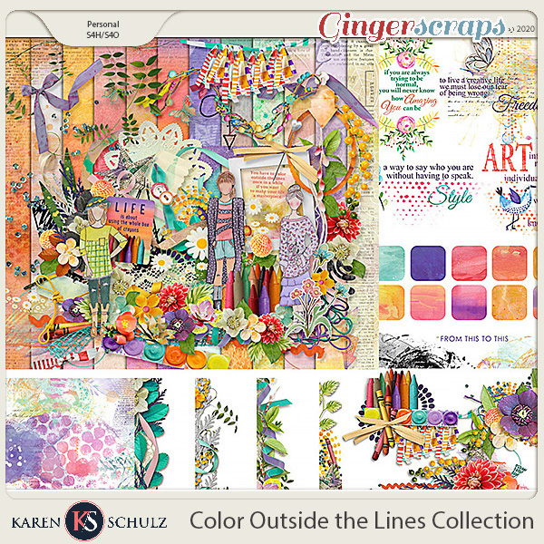 Color Outside the Lines Collection by Snickerdoodle Designs