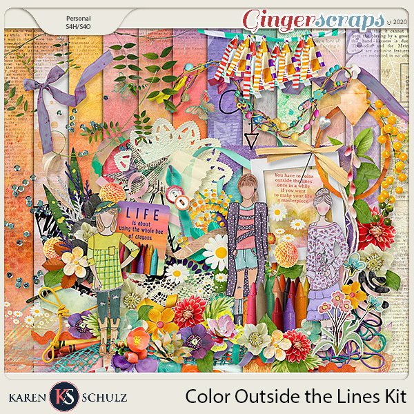 Color Outside the Lines Kit by Karen Schulz