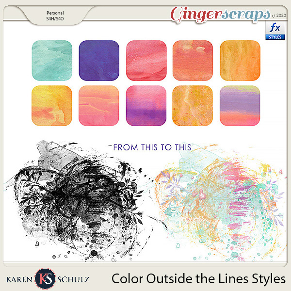 Color Outside the Lines Styles by Snickerdoodle Designs