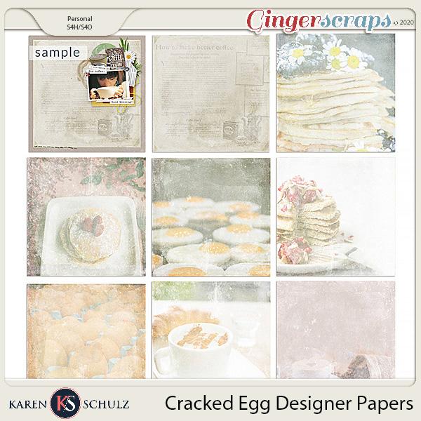 Cracked Egg Designer Paper Pack by Karen Schulz