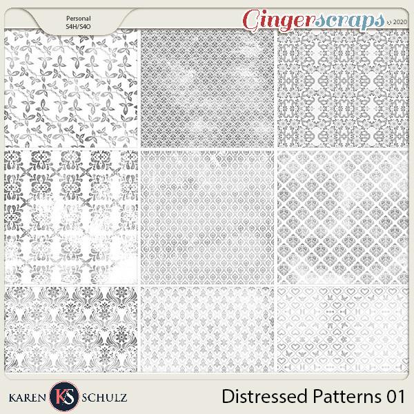 Distressed Patterns 01 by Karen Schulz