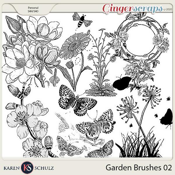 Garden Brushes 02 by Karen Schulz
