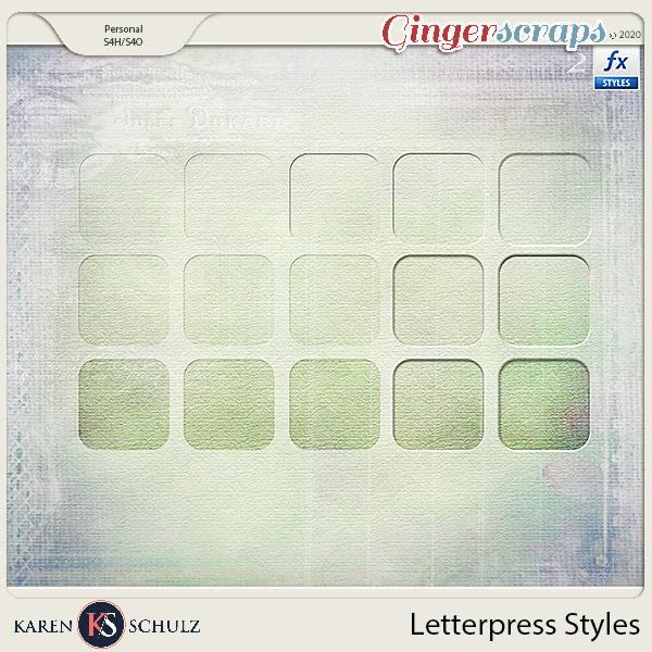 Letterpress Styles by Karen Schulz