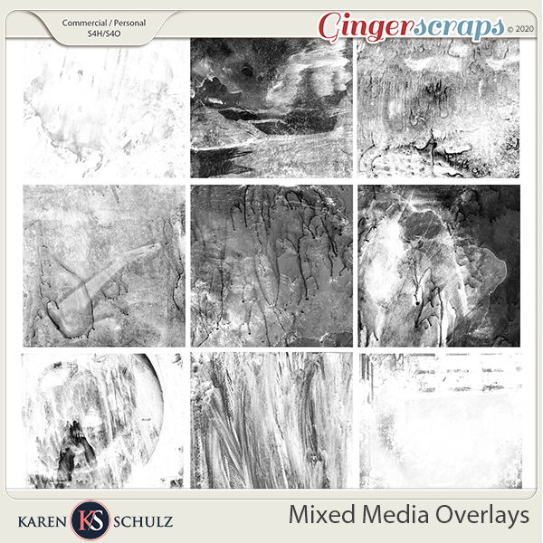 Mixed Media Overlays by Karen Schulz