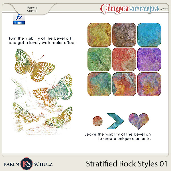 Stratified Rock Styles 01 by Karen Schulz
