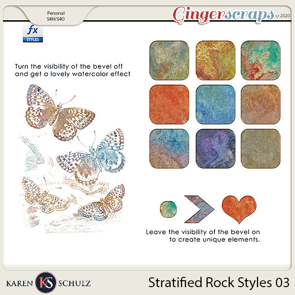 Stratified Rock Styles 03 by Karen Schulz