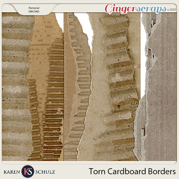 Torn Cardboard Borders by Karen Schulz
