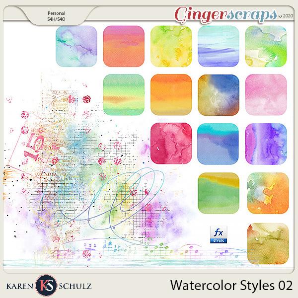 Watercolor Styles 02 by Karen Schulz
