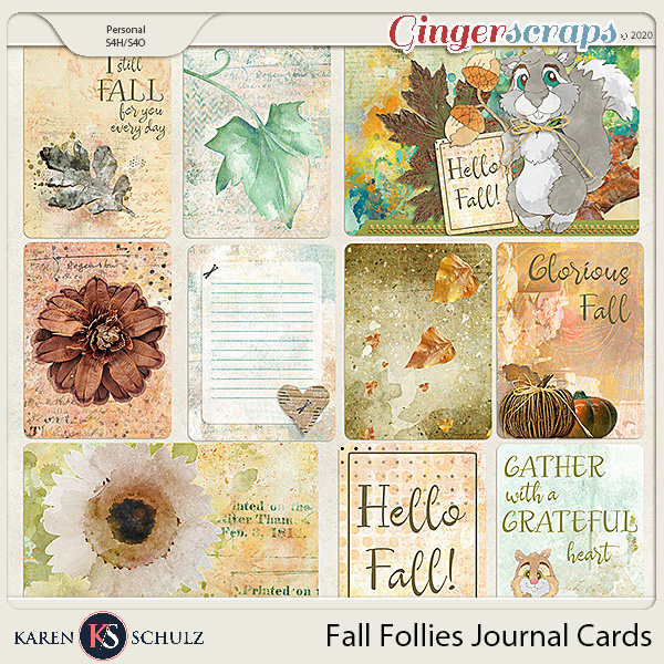 Fall Follies Pocket Cards by Karen Schulz