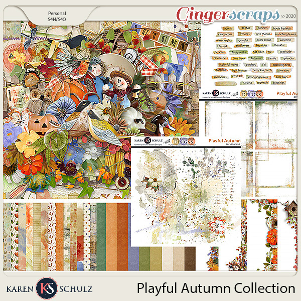 Playful Autumn Collection by Snickerdoodle Designs and Linda Cumberland Designs