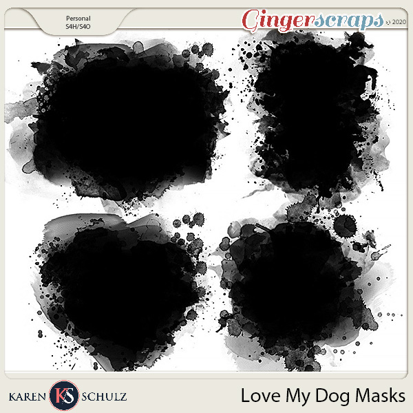Love My Dog Masks by Karen Schulz