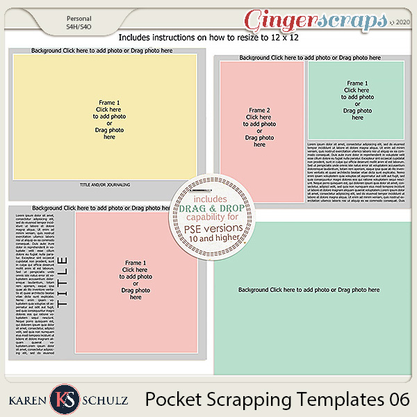 Pocket Scrapping Templates 06 by Karen Schulz