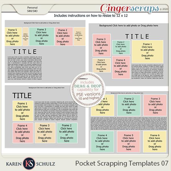 Pocket Scrapping Templates 07 by Karen Schulz